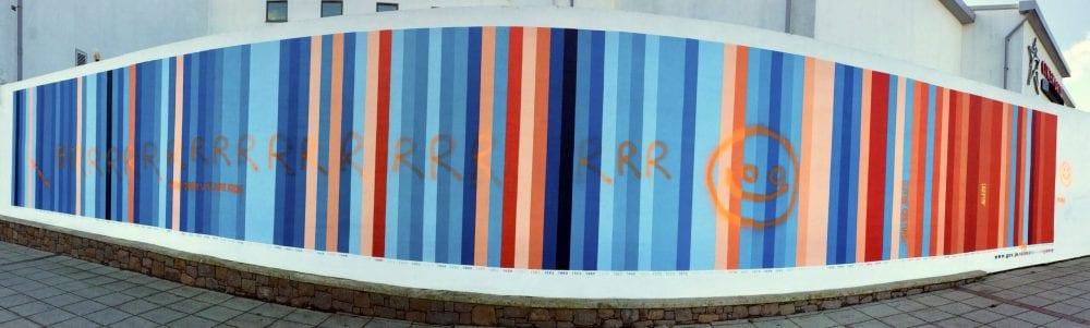 Climate Stripes Mural Vandalised