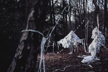Leda, Fabric And Wire Installation In Woodlans Staged For Emily Portman's Album Coracle, Photo By Elly Lucas
