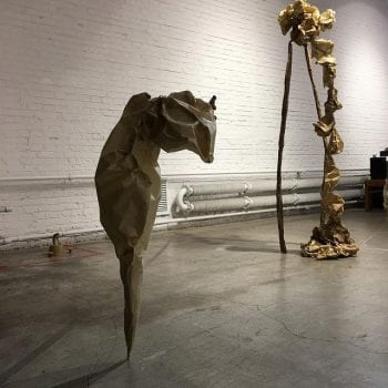 Untitled, Paper And Clay Sculpture, Red Gate Gallery, Beijing