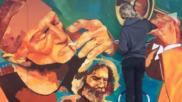 Dylan Mullins Painting A Mural